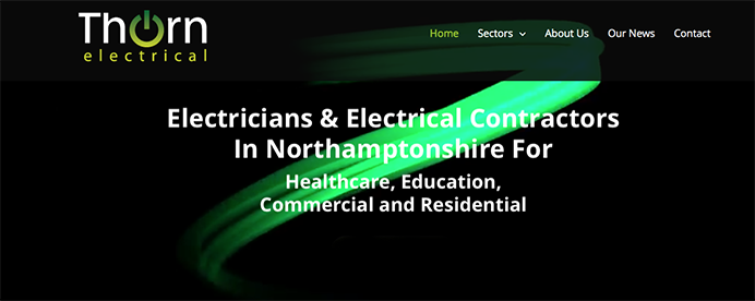 Thorn Electrical Northampton New Website